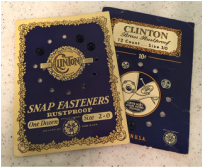 Vintage Clinton Snap Fasteners